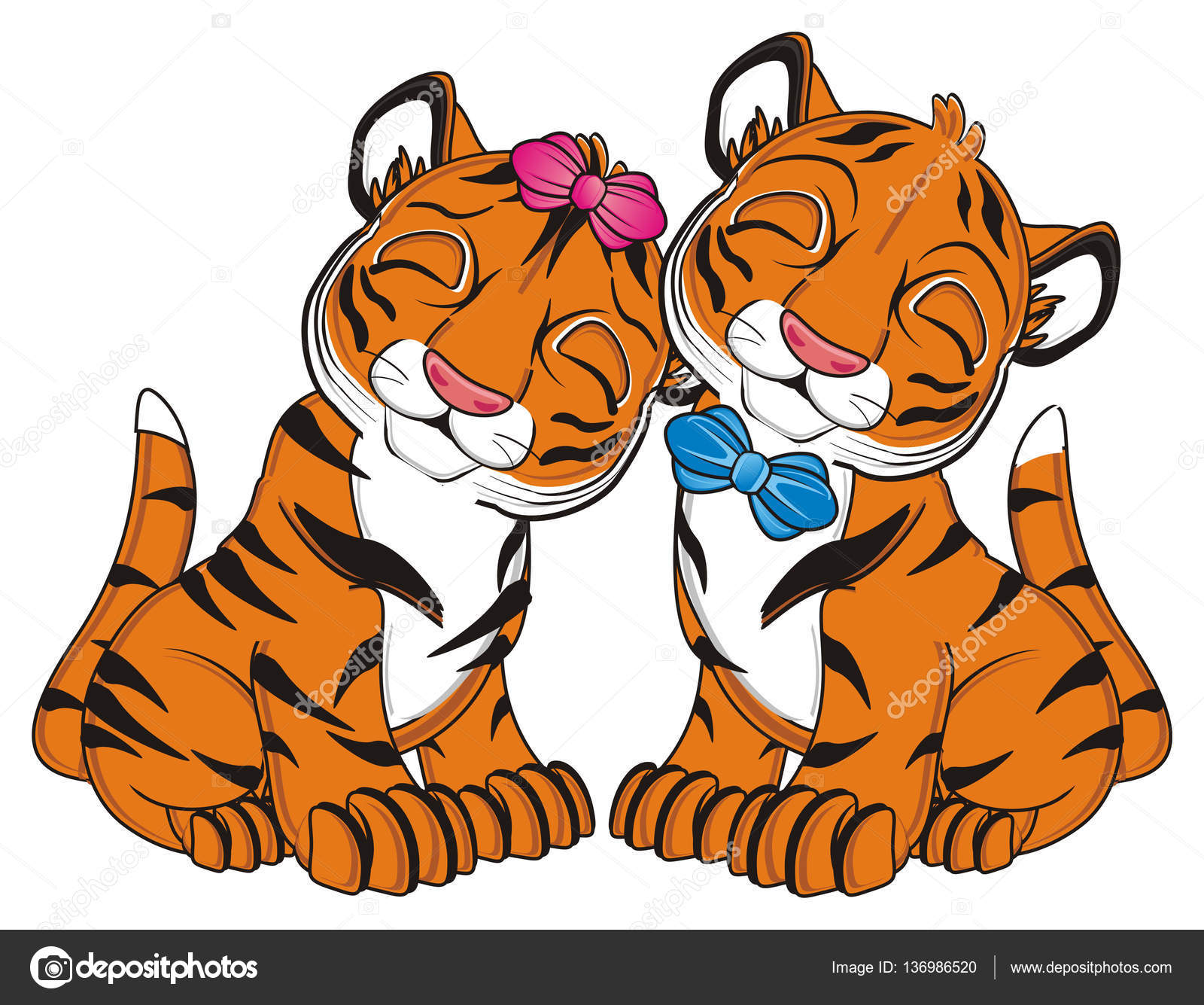 Carina tigre arancione — foto stock tatty