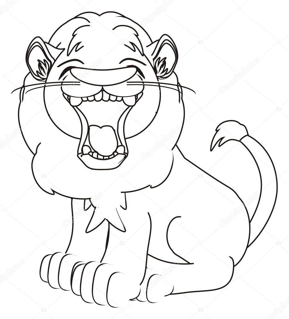 kleurplaat leeuwenkoning