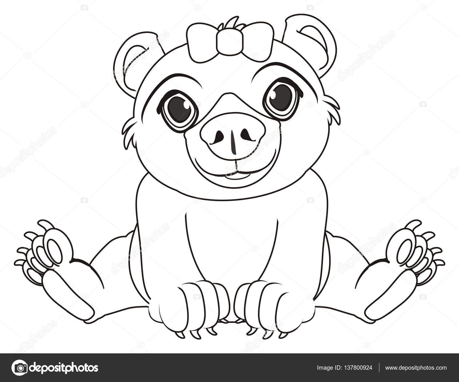 Malvorlagen Bär Mädchen — Stockfoto © tatty77tatty #137800924