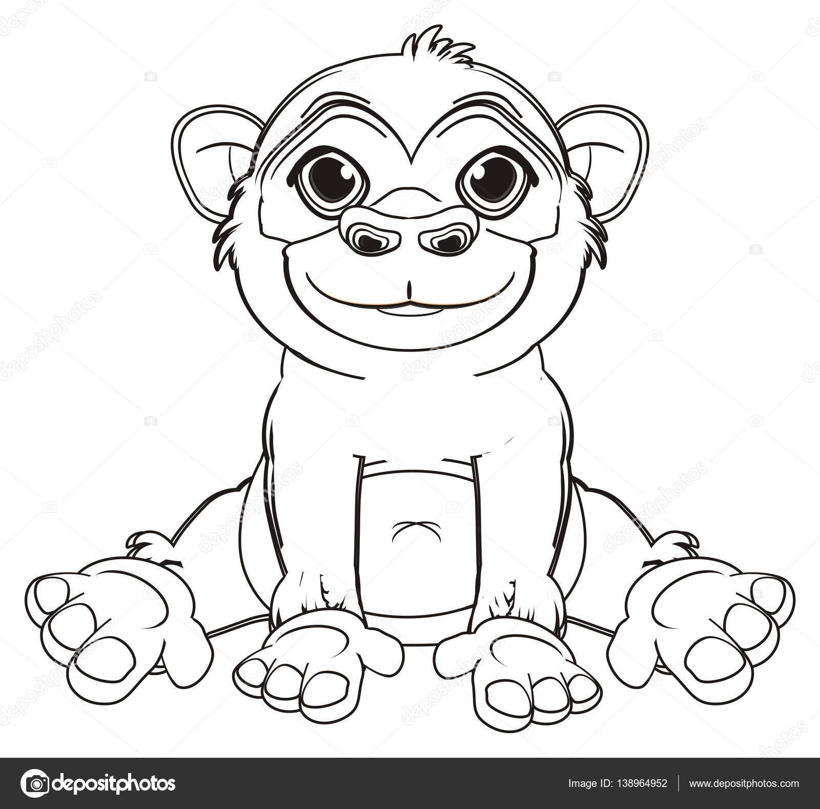 Sevimli Maymun Boyama Stok Foto Tatty77tatty 138964952
