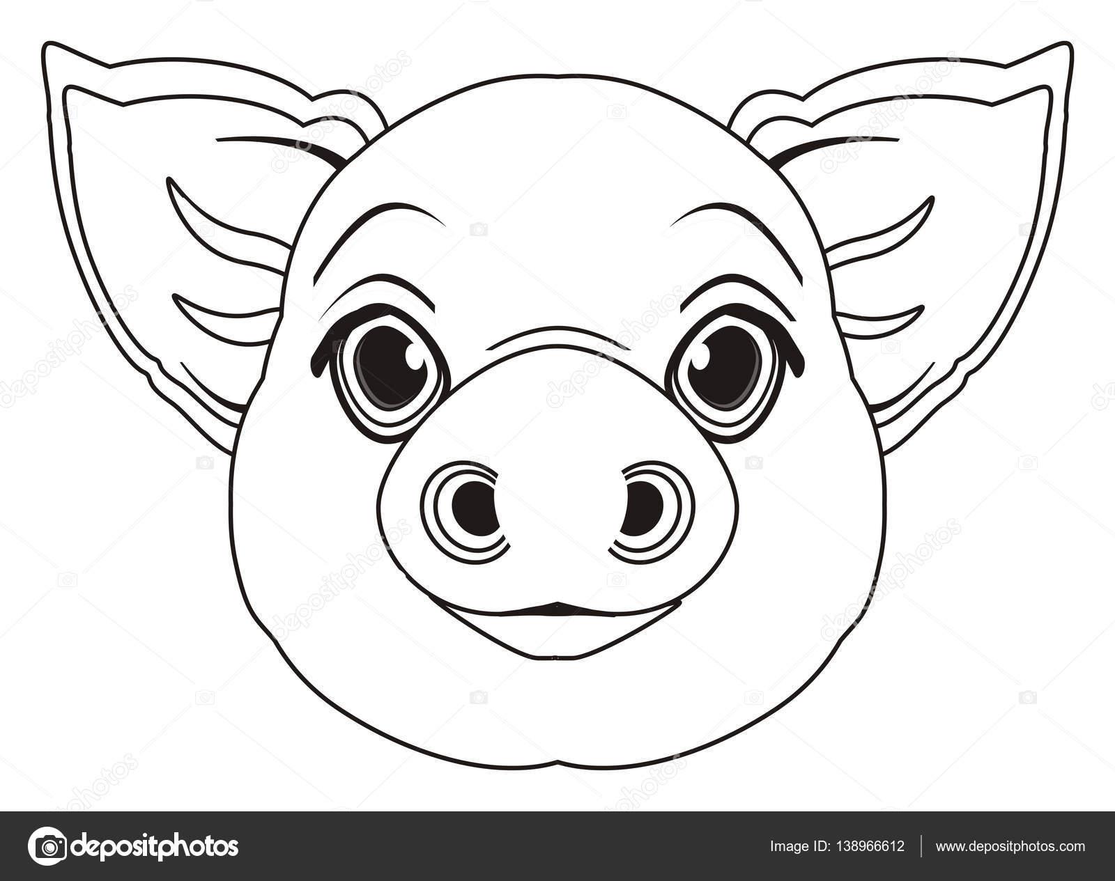 Malvorlagen Gesicht des Schweins — Stockfoto © tatty77tatty #138966612