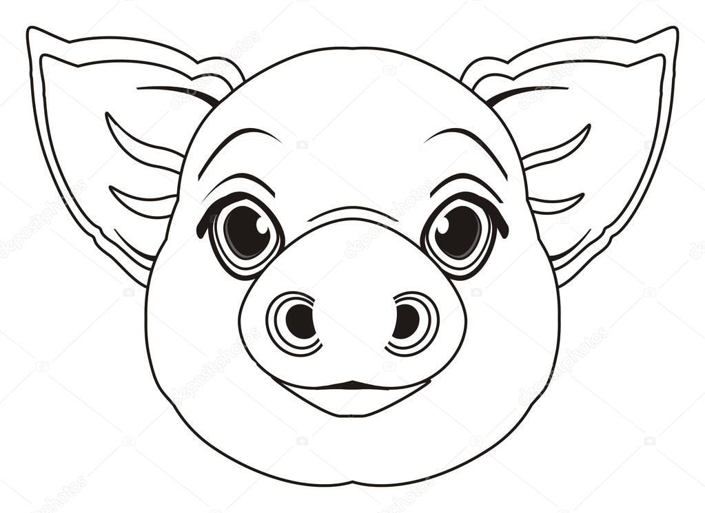 Imágenes: cara de cerdo para colorear   colorear cara de cerdo ...