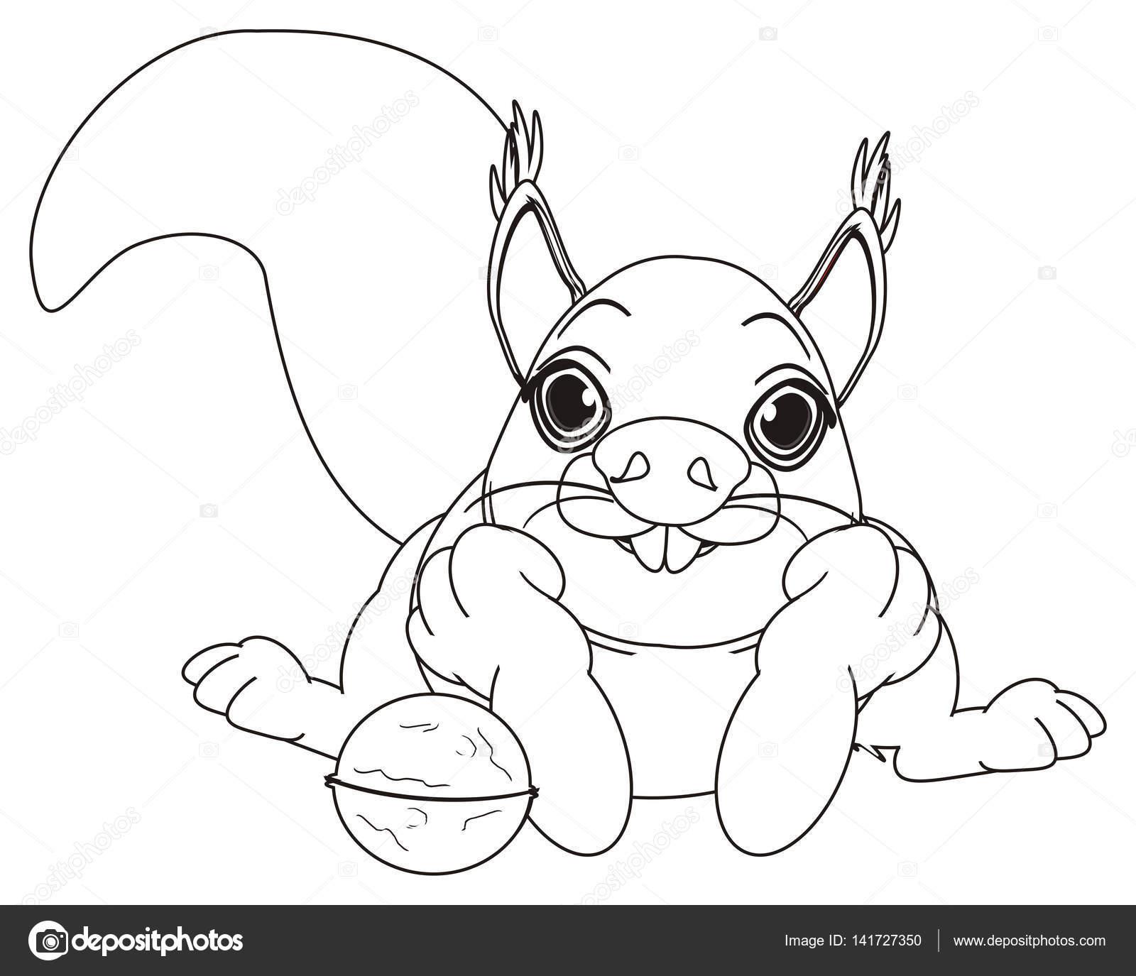 Malvorlagen Eichhörnchen liegend — Stockfoto © tatty77tatty #141727350