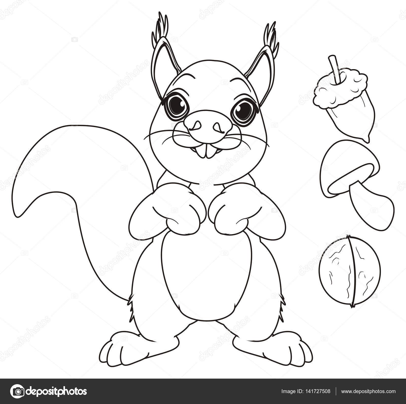 Malvorlagen Eichhörnchen Stand Stockfoto Tatty77tatty 141727508