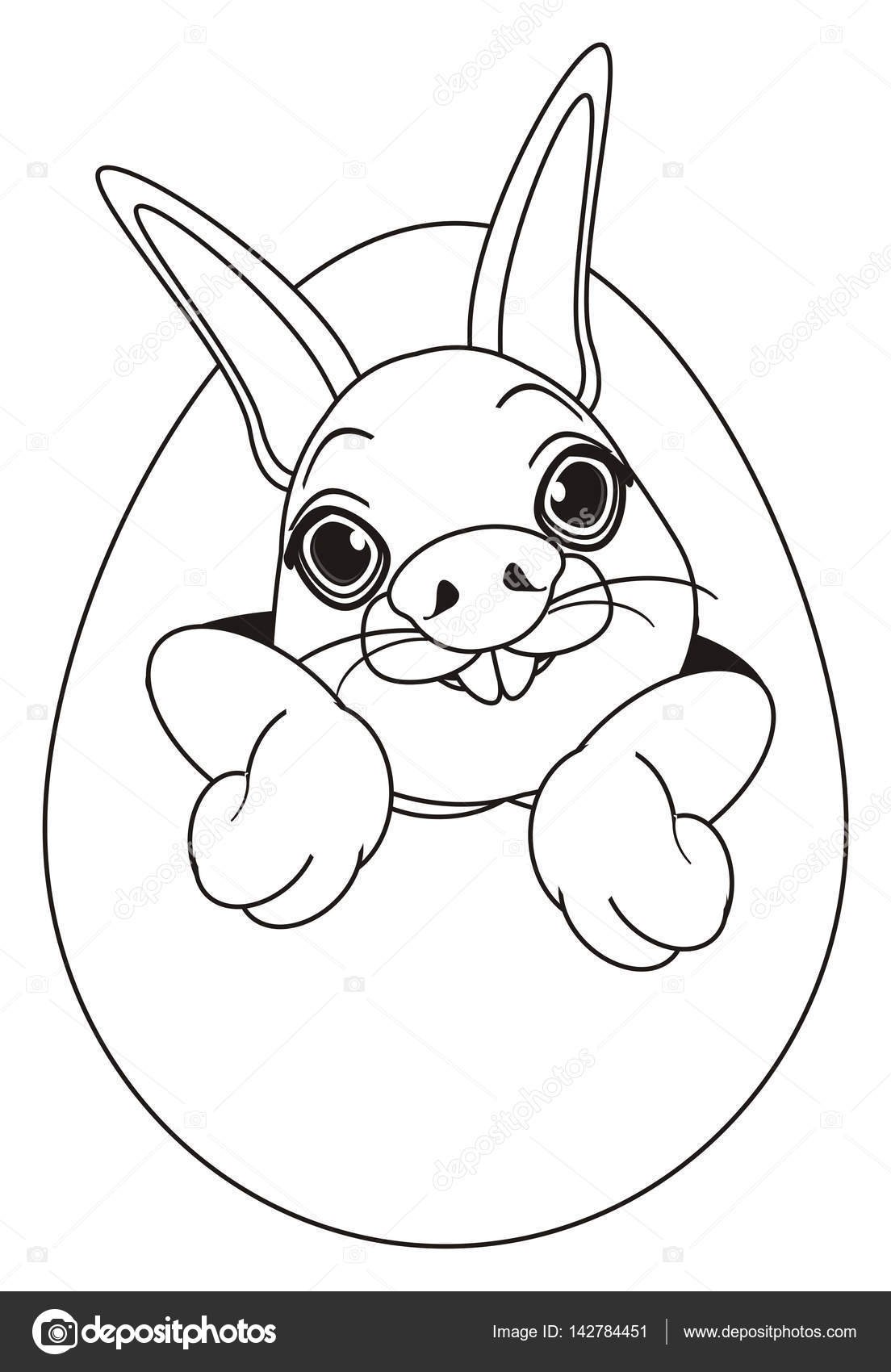 Burun Yumurta üzerinde Tavşan Boyama Stok Foto Tatty77tatty