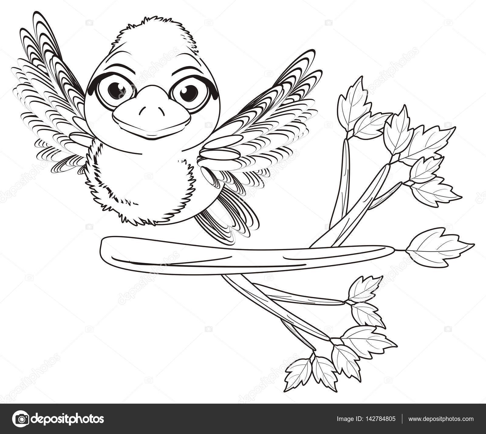 Kleurplaten Vliegende Vogels.Kleurplaten Van De Vogel En Boom Stockfoto C Tatty77tatty 142784805