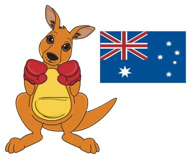 cute beige kangaroo