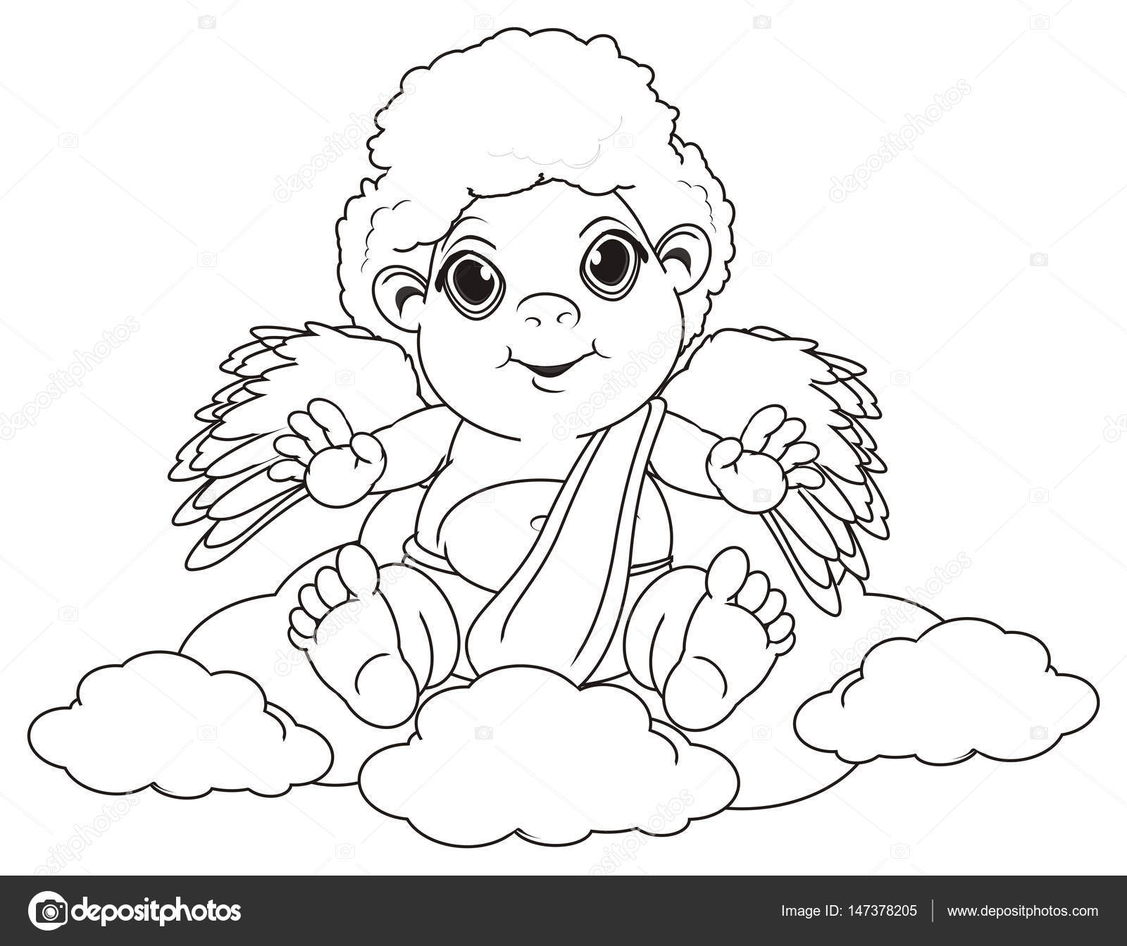 Malvorlagen Engel Sitzen Stockfoto Tatty77tatty 147378205