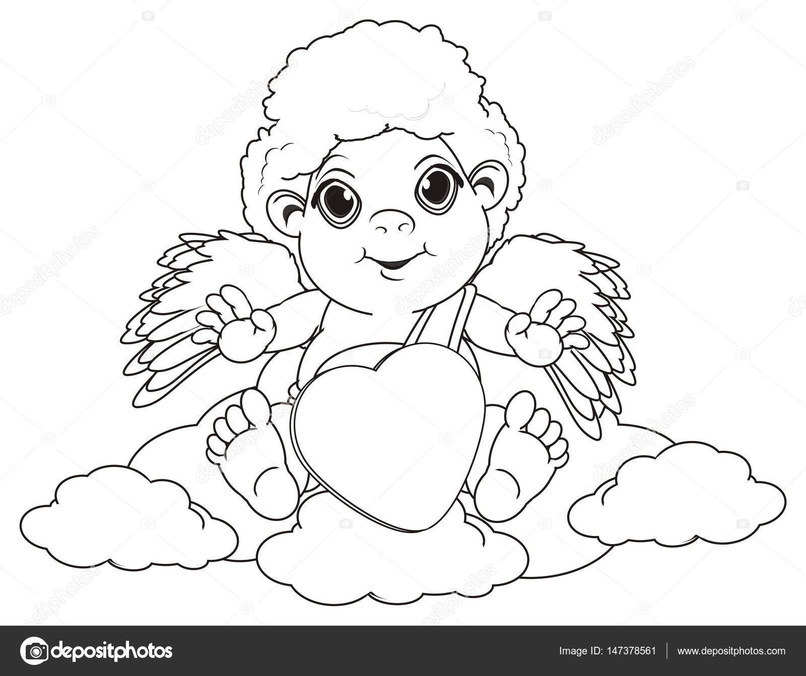 Malvorlagen Engel Sitzen Stockfoto Tatty77tatty 147378561