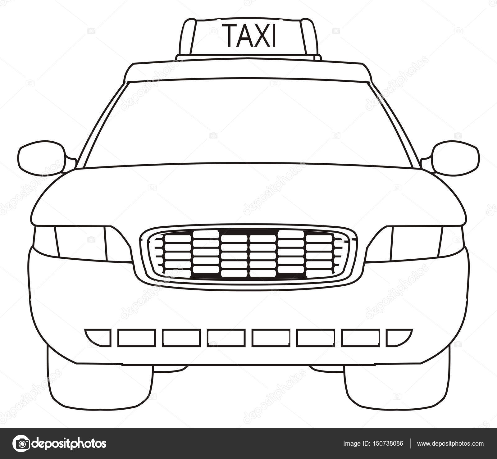 Coloriage Voiture De Taxi Photographie Tatty77tatty