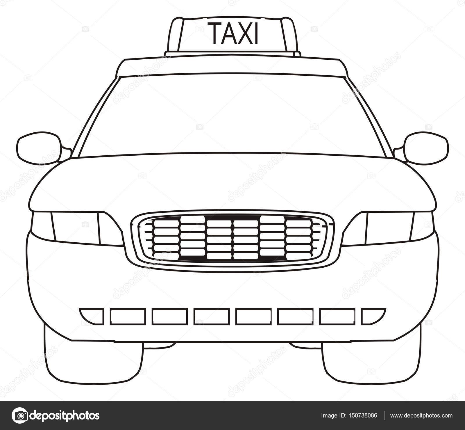 colorear coche de taxi — Foto de stock © tatty77tatty #150738086