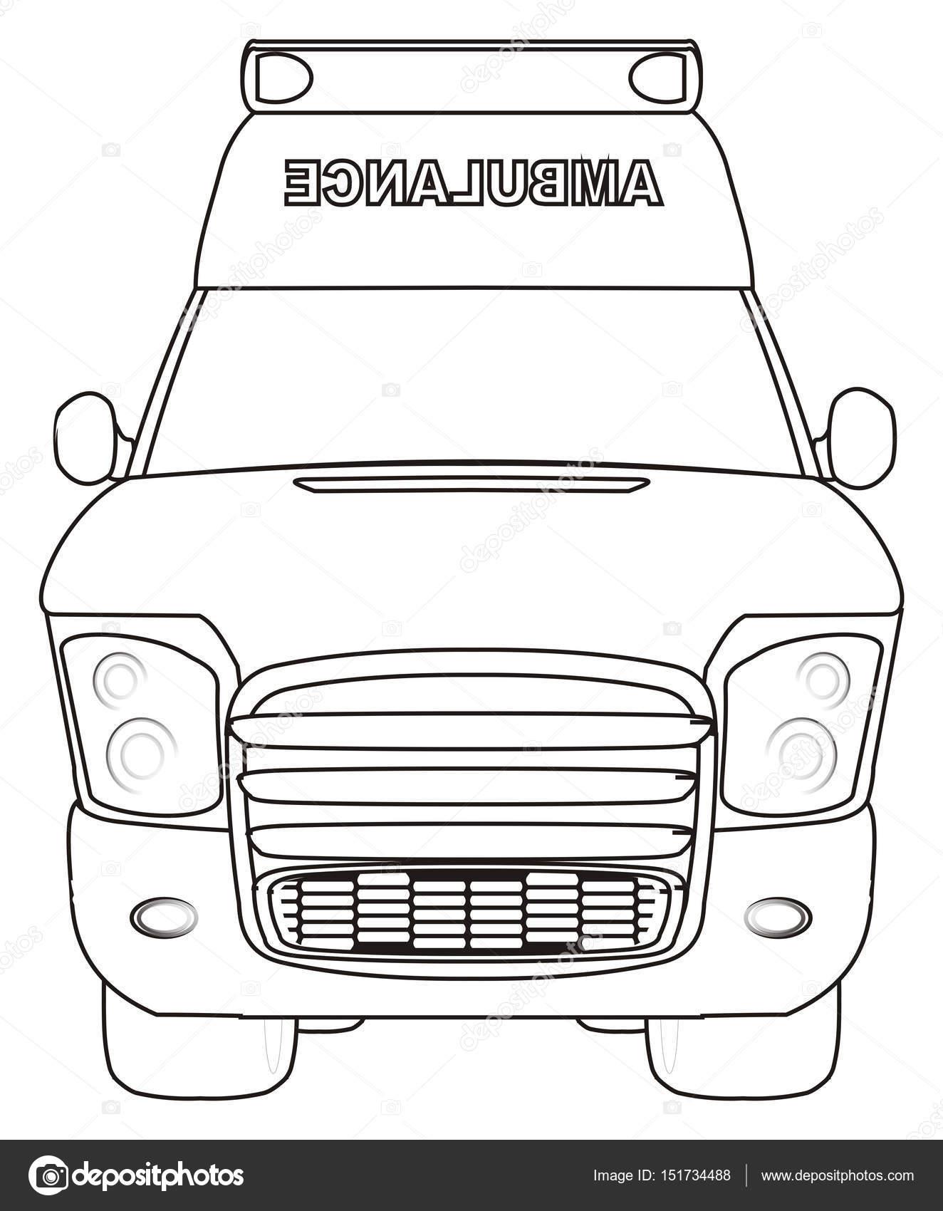 Kleurplaten Auto Ambulance Stockfoto C Tatty77tatty 151734488