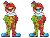 smiling colored clown
