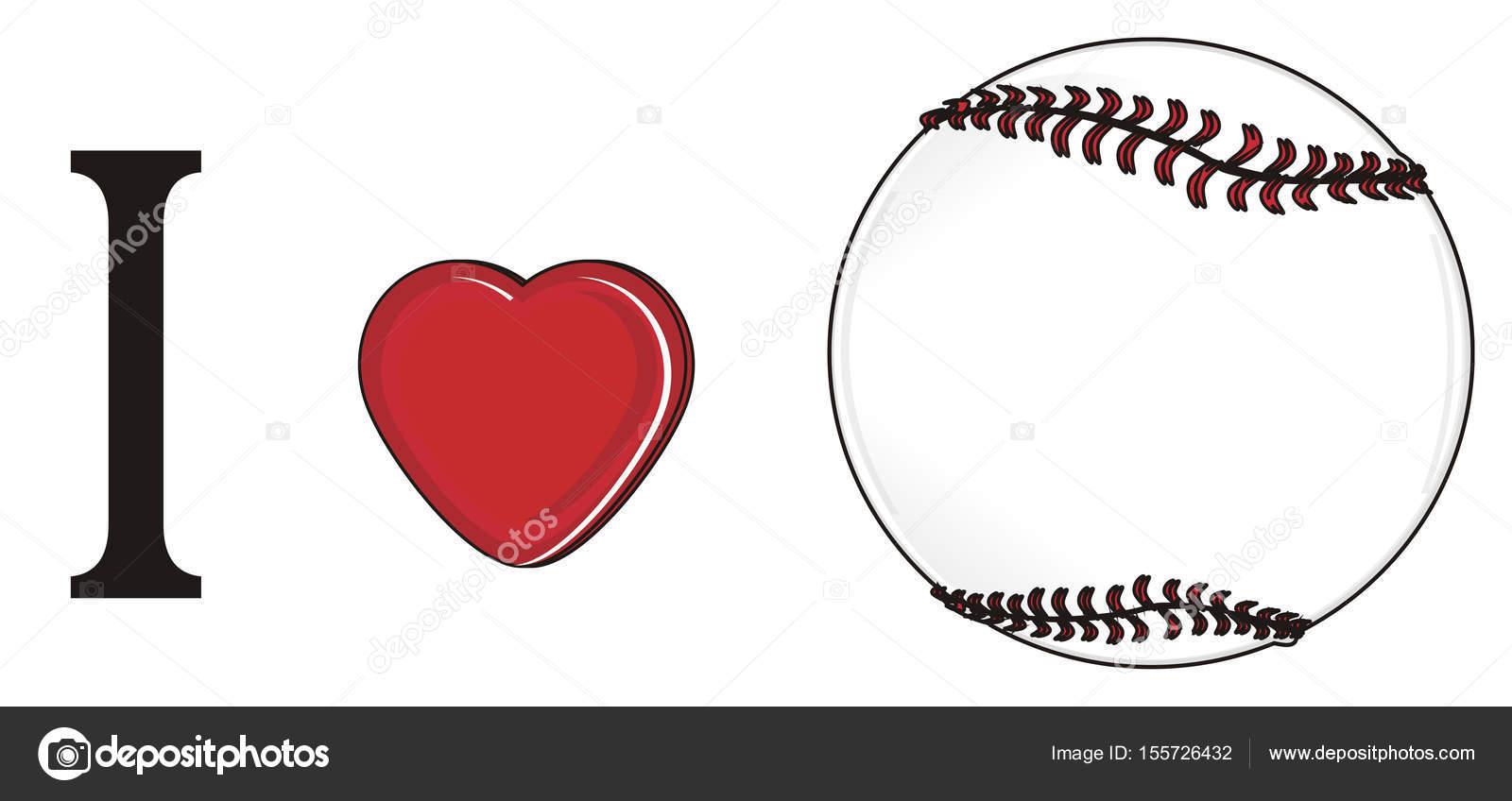 I Love Baseball Stock Photo C Tatty77tatty 155726432