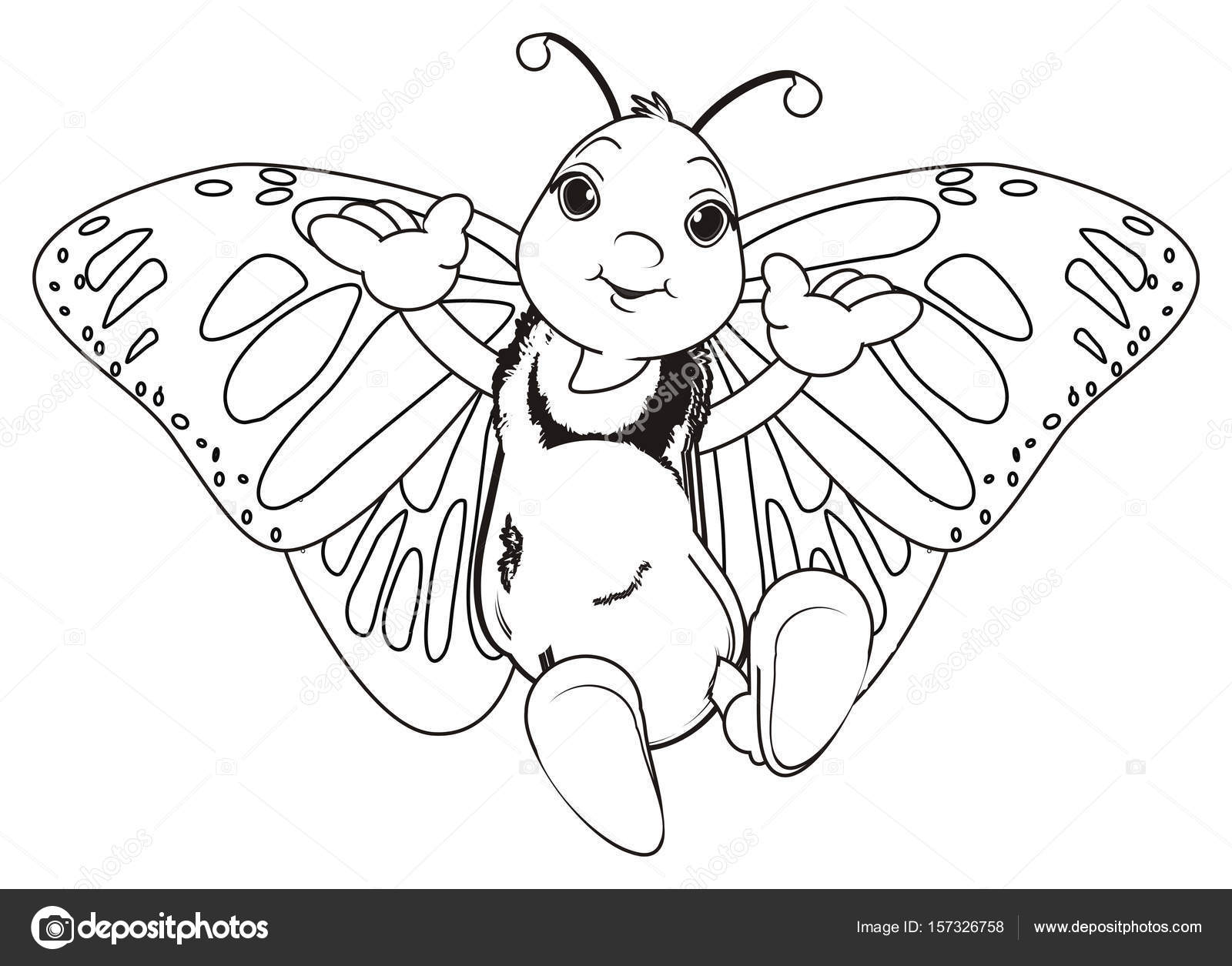 Malvorlagen Schmetterling lächelnd — Stockfoto © tatty77tatty #157326758