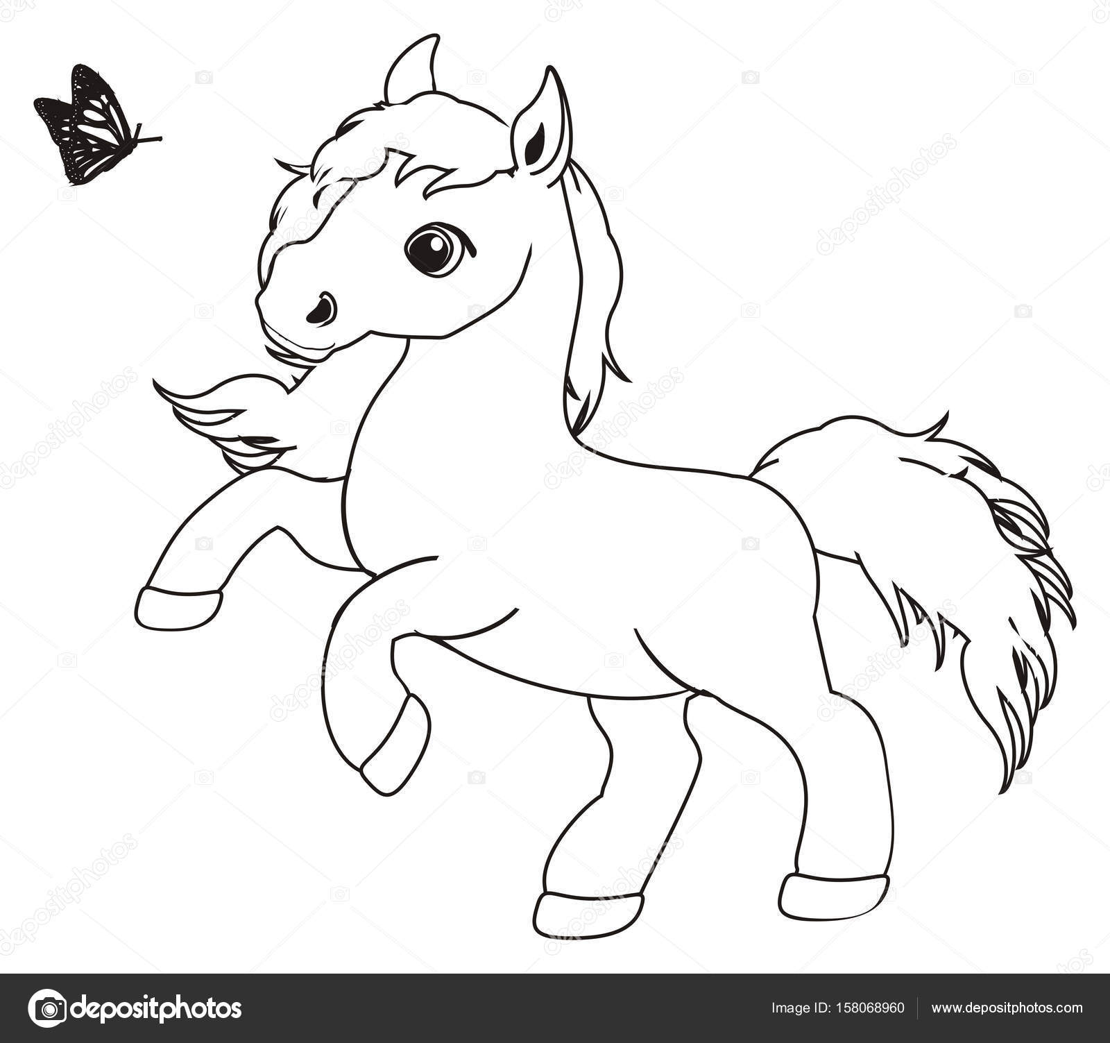 Coloriage Cheval Mignon.Coloriage Petit Cheval Mignon Photographie Tatty77tatty C 158068960
