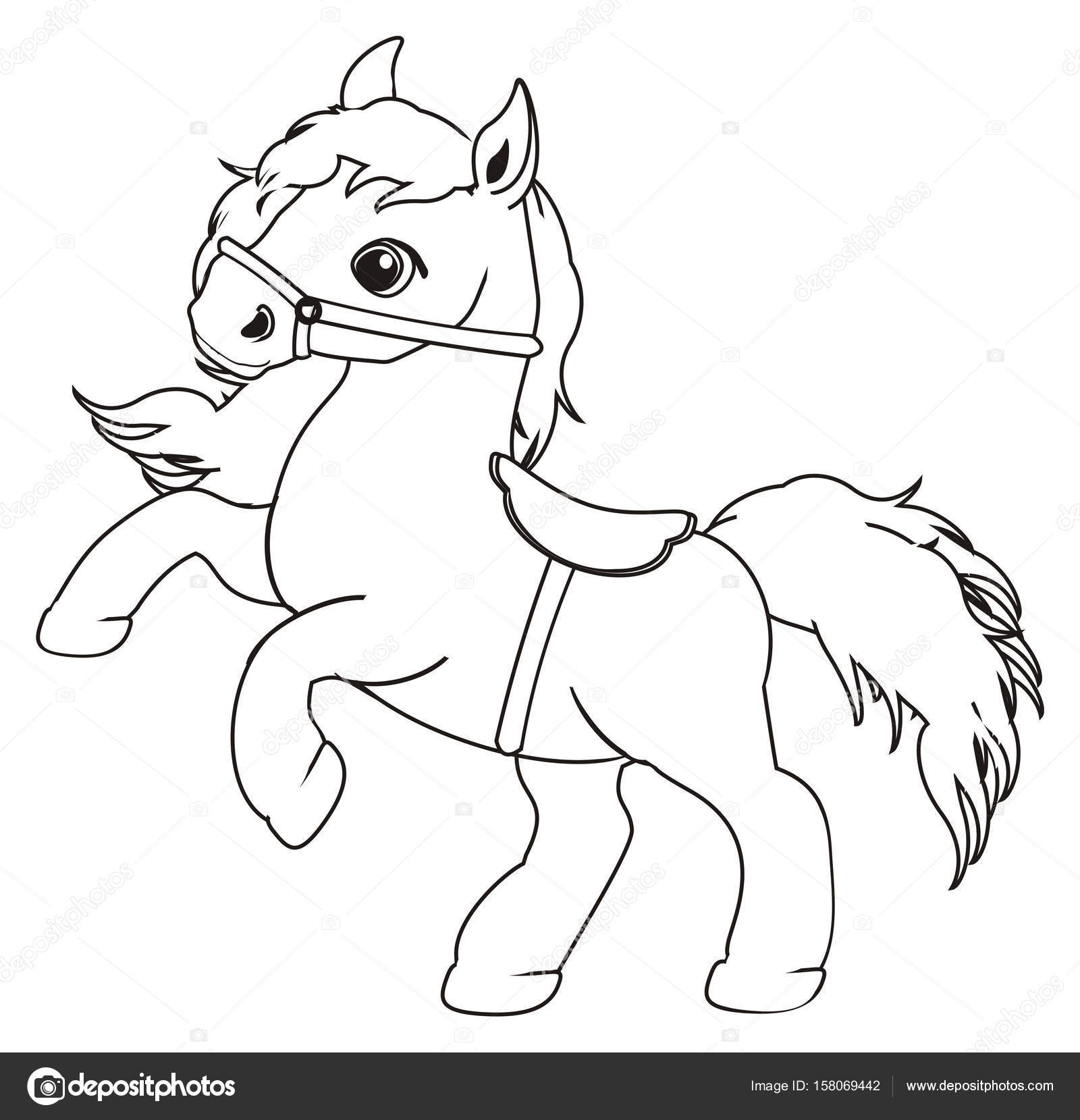 Coloriage Cheval Mignon.Coloriage Petit Cheval Mignon Photographie Tatty77tatty C 158069442