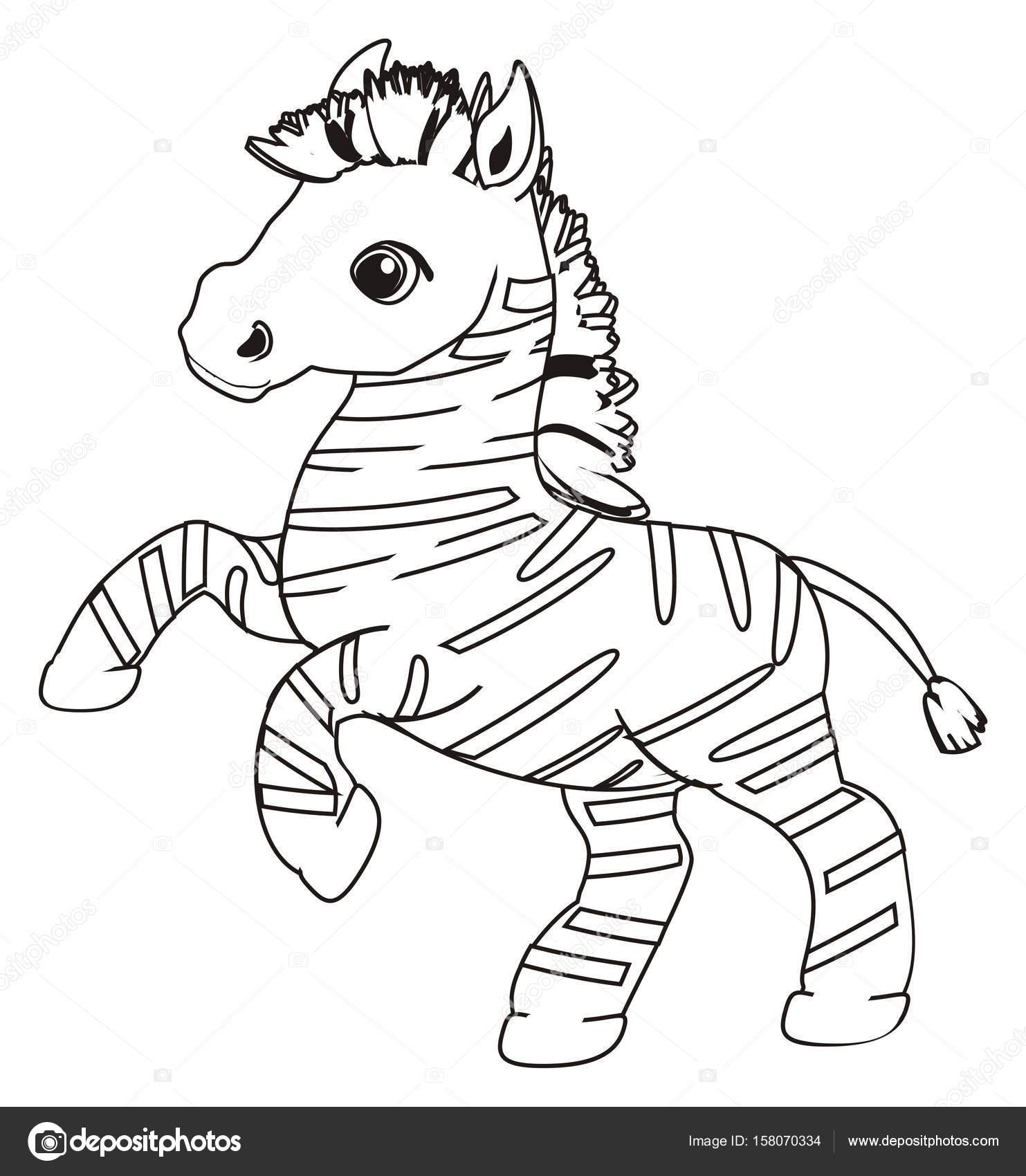 Küçük şirin Zebra Boyama Stok Foto Tatty77tatty 158070334