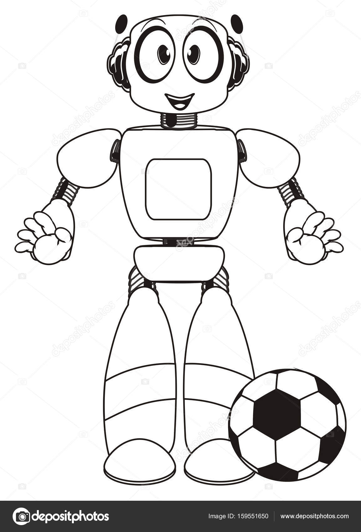 Coloring Cute Robot Stock Photo Tatty77tatty 159551650