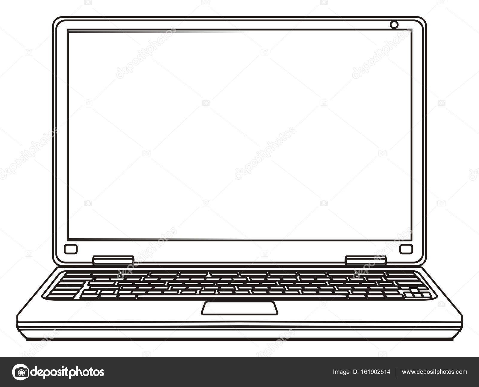 stock photo one modern laptop