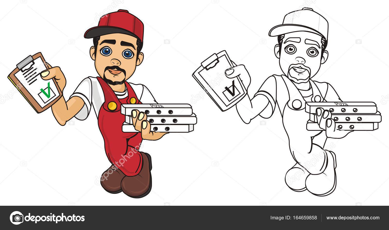 hombre Mensajero de pizza — Foto de stock © tatty77tatty #164659858
