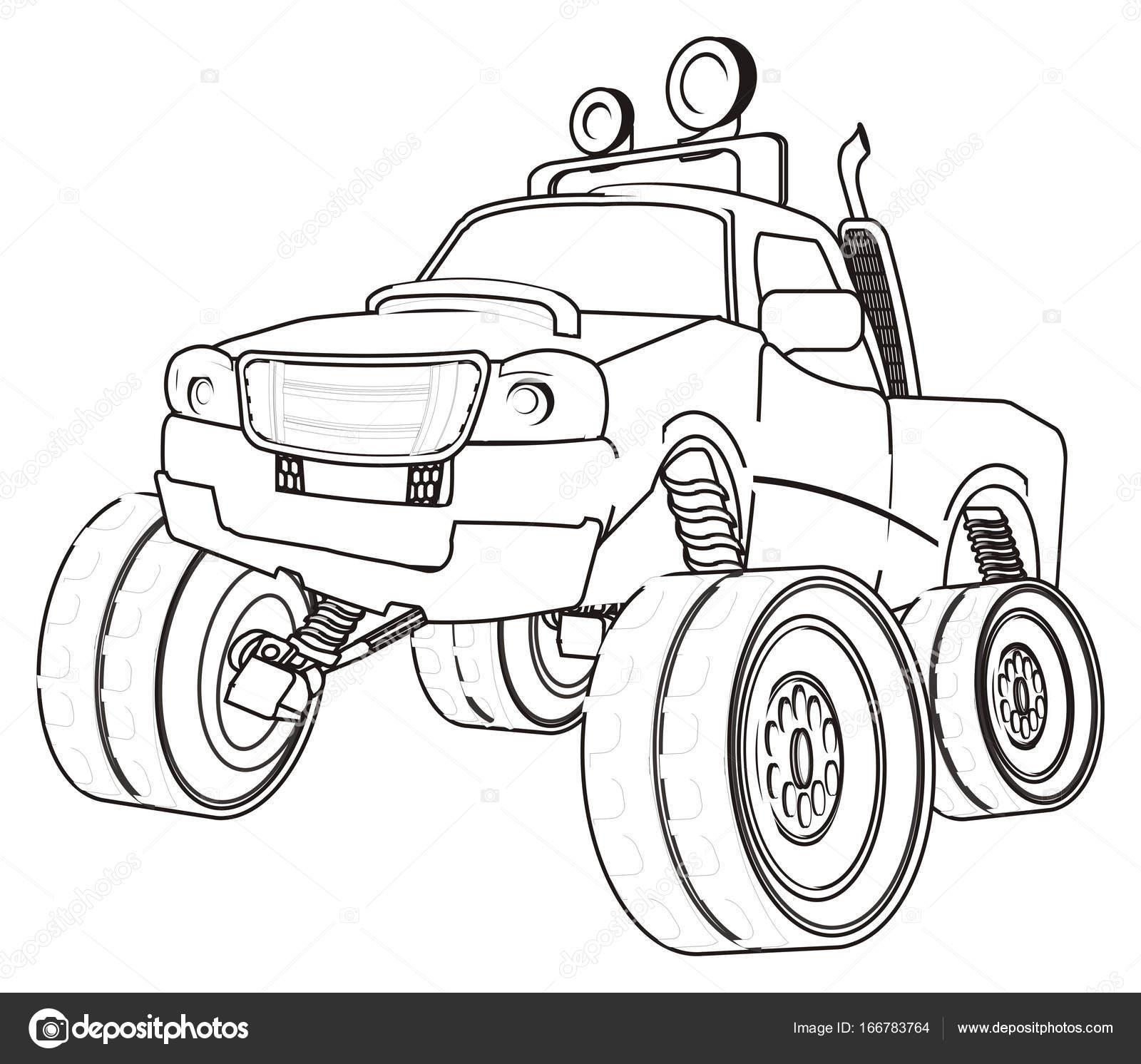 Grote Kleurplaten Auto.Bigfoot Auto Kleurplaten Stockfoto C Tatty77tatty 166783764