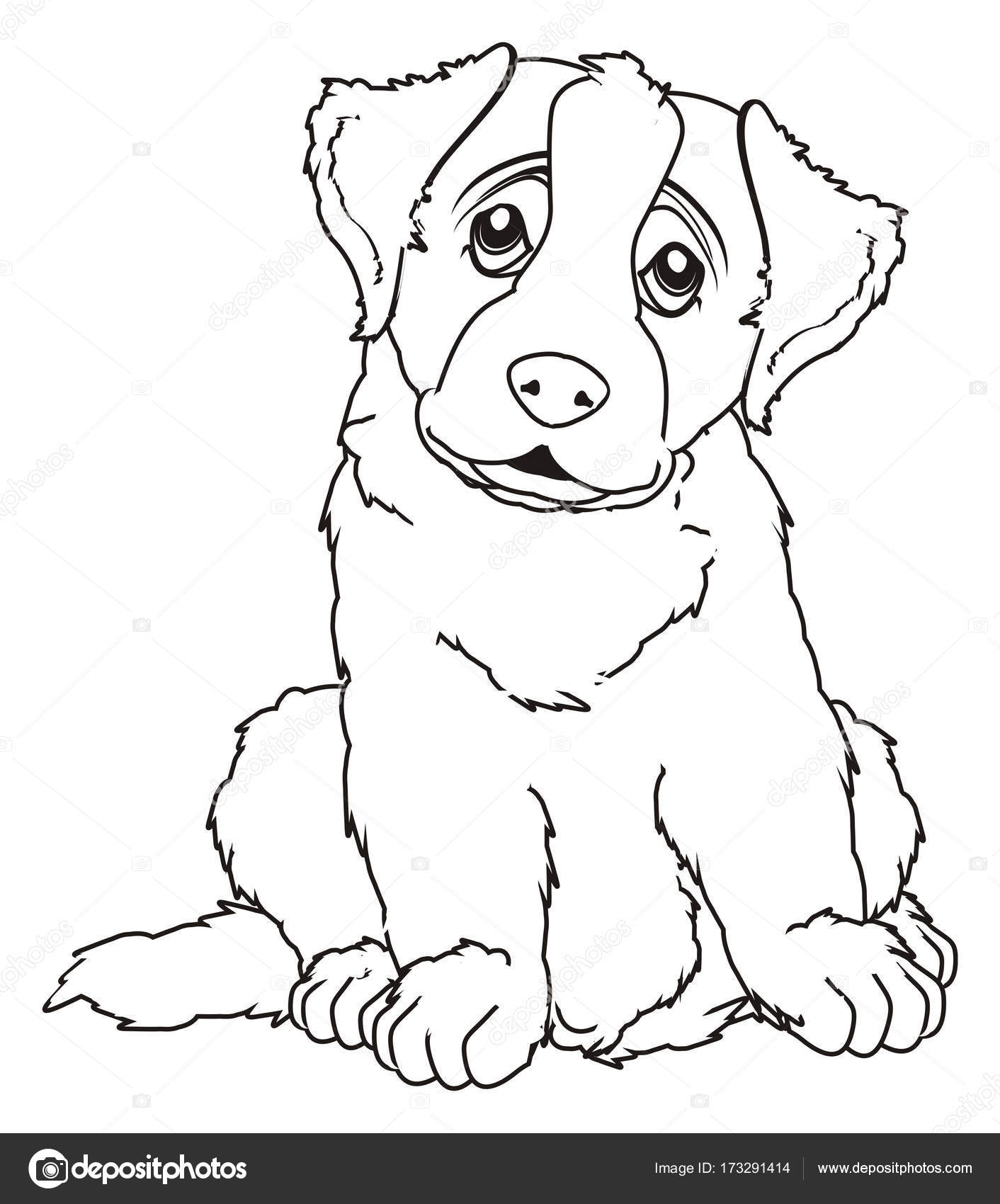 kleurplaten st bernard pup stockfoto 169 tatty77tatty