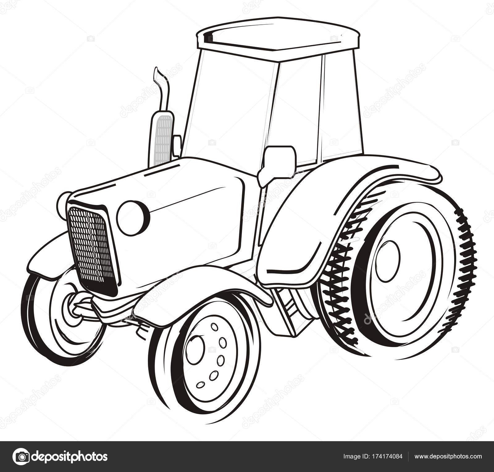 Bir çiftlik Traktör Standı Stok Foto Tatty77tatty 174174084
