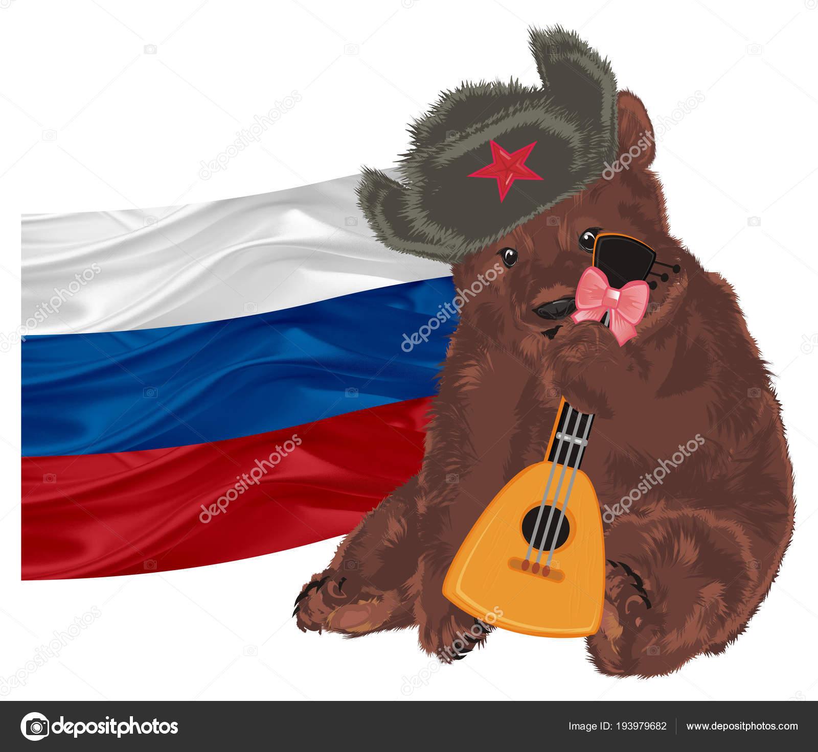 Символы и флаги с медведем на фото
