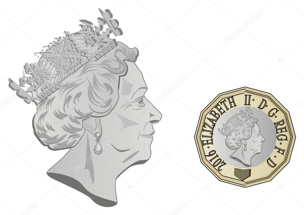 Icon0 Com Free Images Free Vector Free Photos Free Icons Free Illustrations For Personal Commercial And Noncommercial Use Attribution Is Not Required Queen Elizabeth Ii And Her Face On Pound