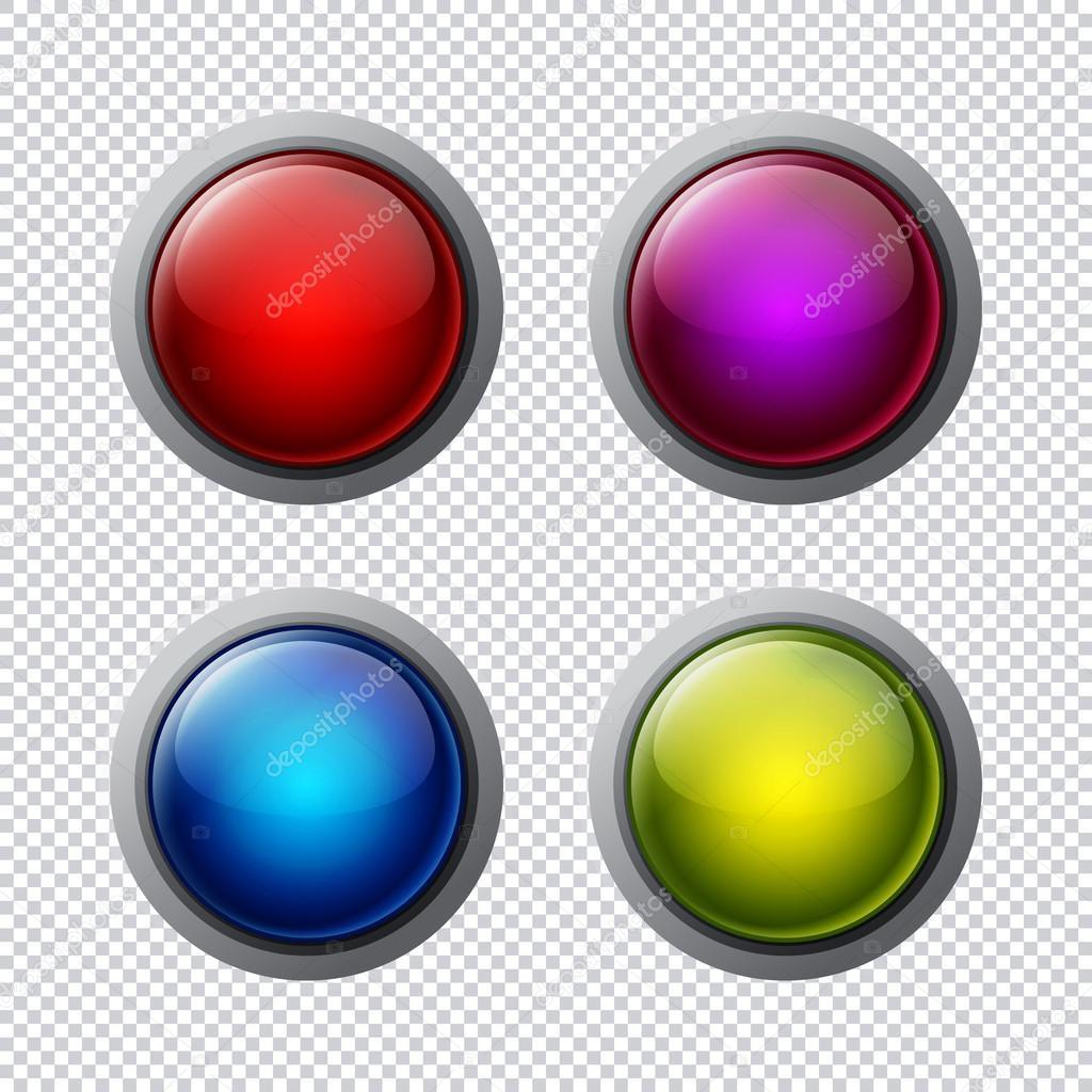 Big buttons, raster illustration — Stock Photo