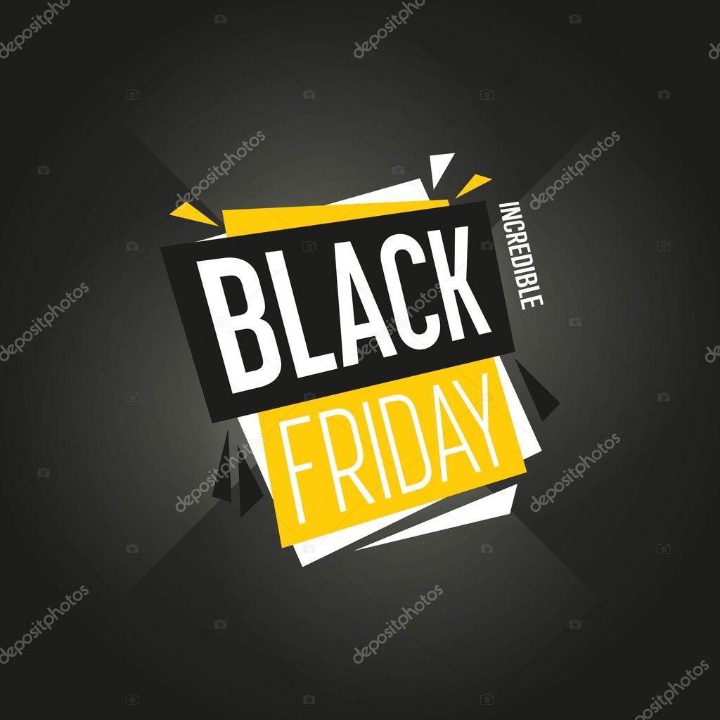 Vector de etiqueta venta de viernes negro aislado — Vector de stock ...