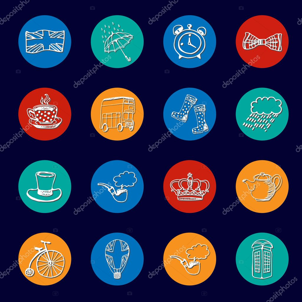 National symbols of england vector icon collection stock vector national symbols of england vector icon collection stock vector ccuart Choice Image