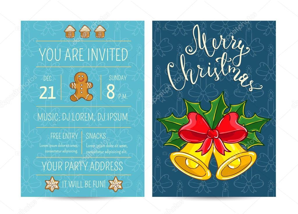 Invitación brillante dibujos animados en la divertida fiesta de ...
