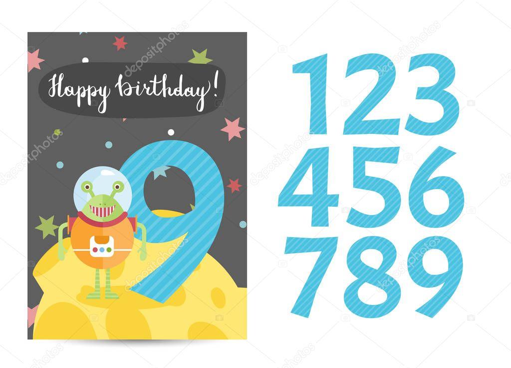 Plantilla Feliz Cumpleaños Word Feliz Cumpleaños Vector De