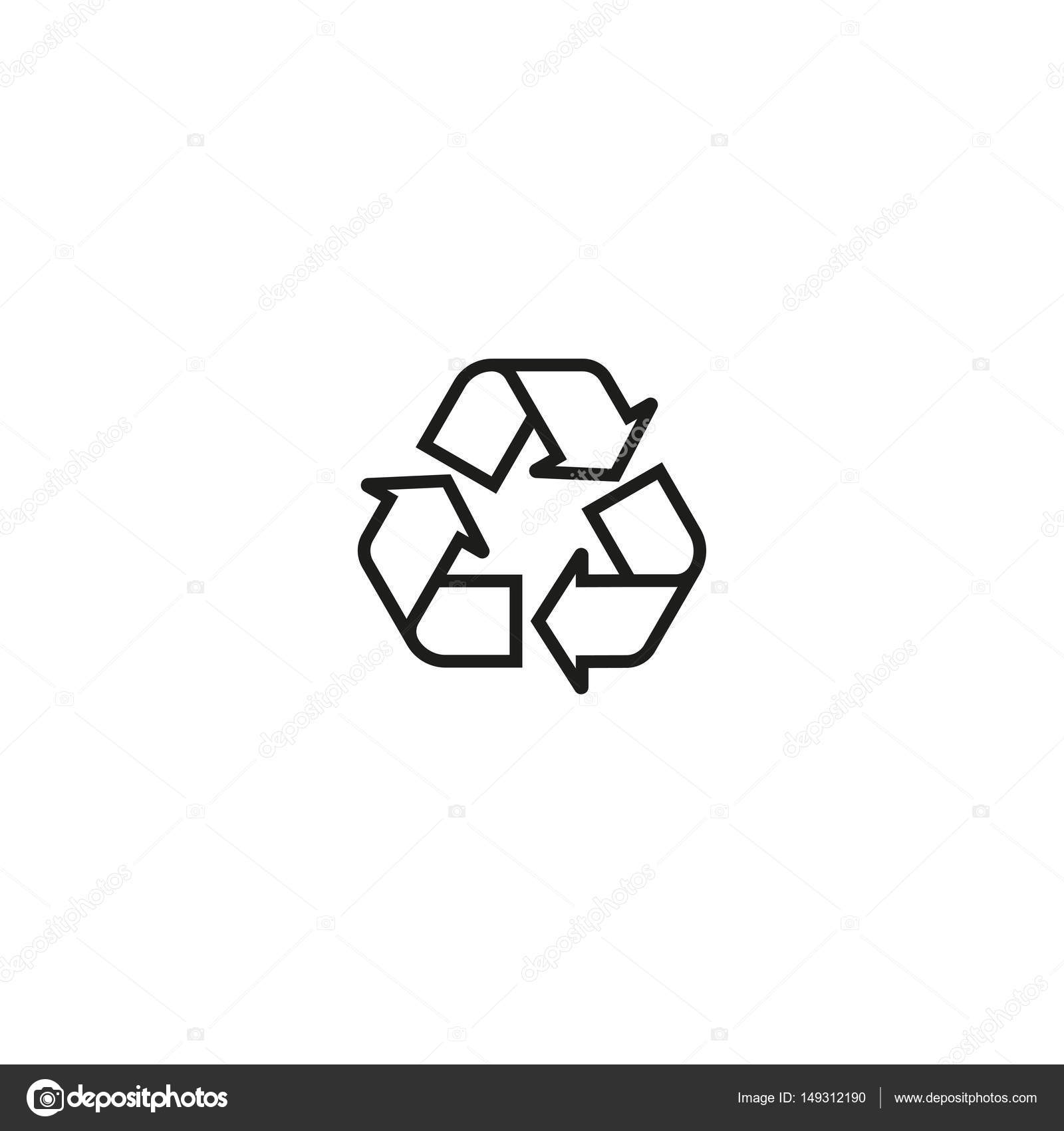 Recycling Symbol Isolated On White Background Stock Vector