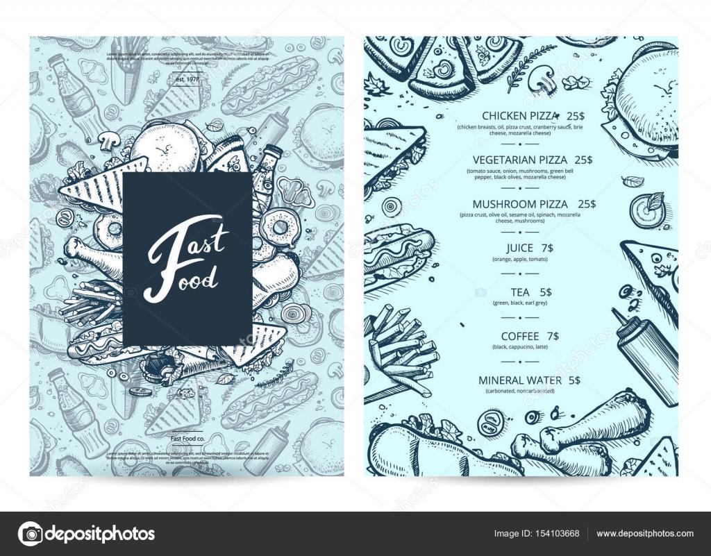 Amerikanische Speisen und Getränke-Menü-Design mit Preisen ...