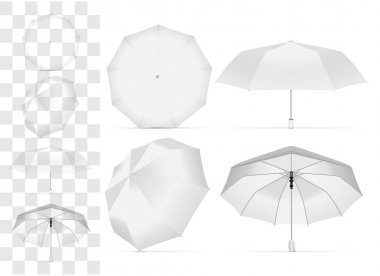 Umbrella for your design and logo. Easy to change colors. Mock up. Vector template clip art vector