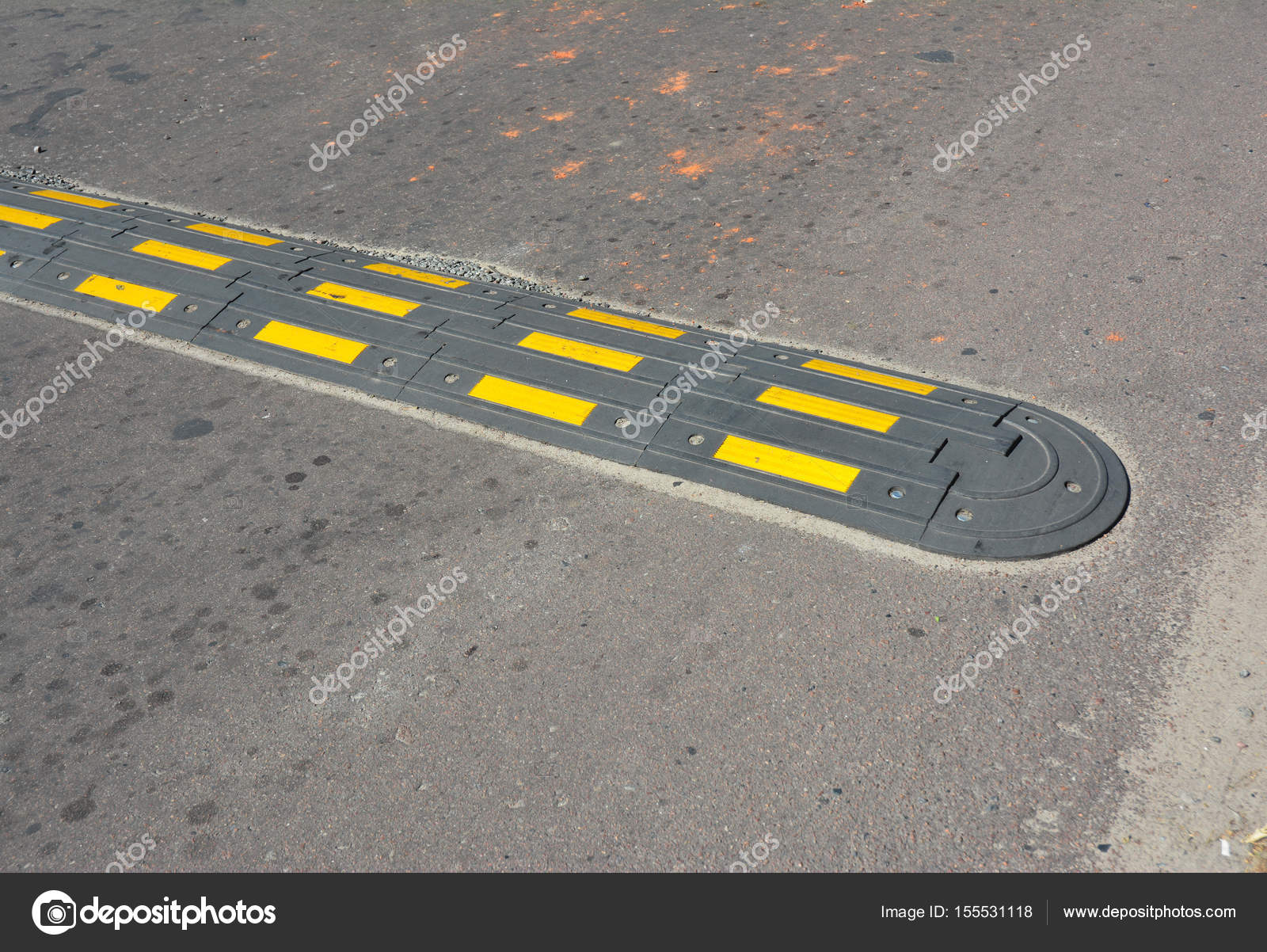 traffic safety speed bump on an asphalt road speed bumps or speed