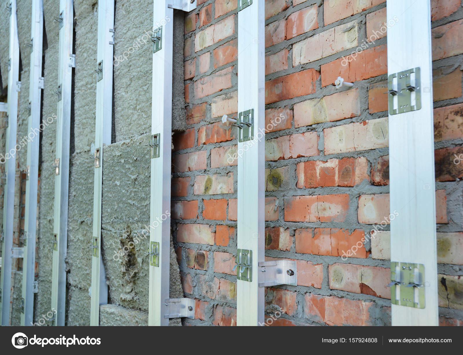 insulating construction house brick wall insulation for energy rh depositphotos com