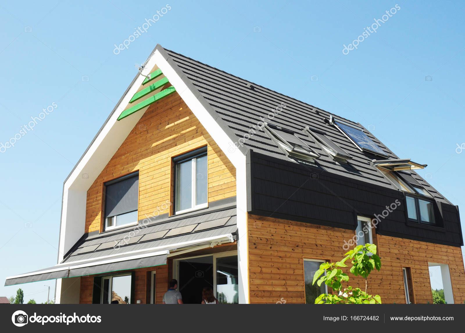 Modernes Passivhaus Bauweise Solar Wasser Heizung Swh Systeme