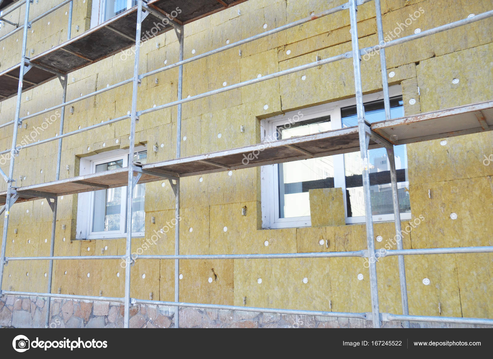 Superior Energy Efficiency House Wall Renovation For Energy Saving. Exterior House  Wall Heat Insulation With Mineral Wool. U2014 Photo By Thefutureis