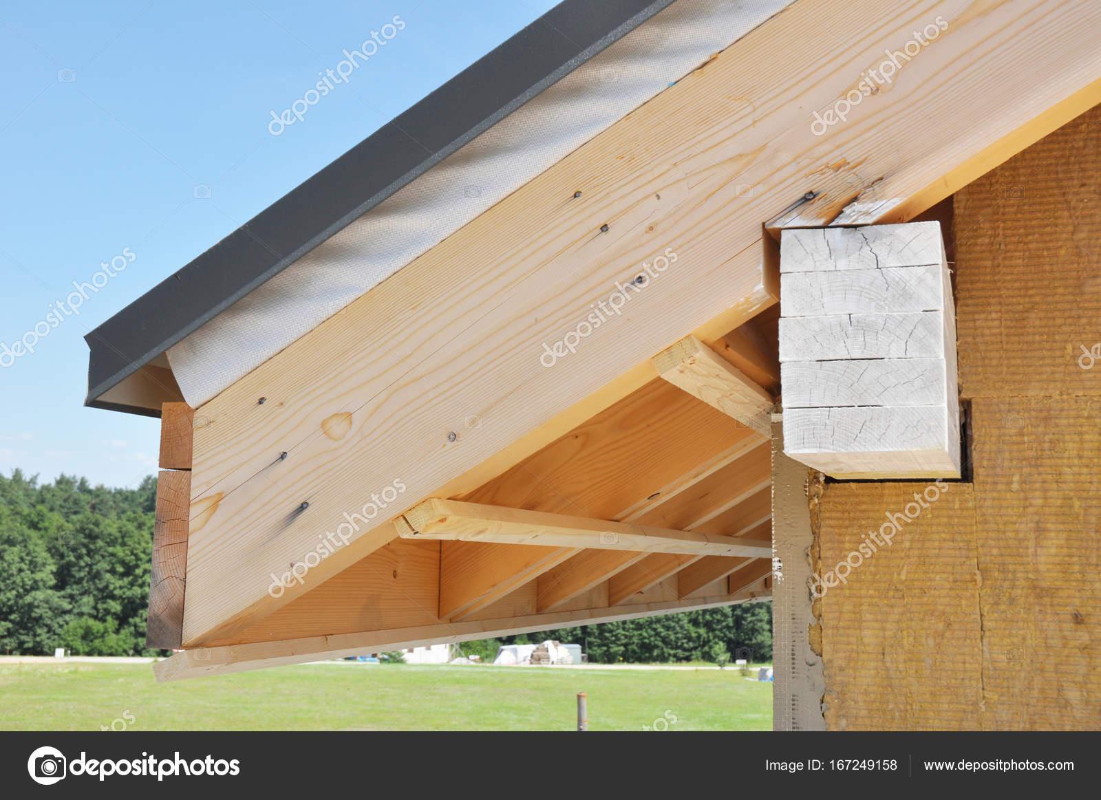 Unfertige Haus Dach Ecke Mit Wanddammung Attic Bau Und Dachboden