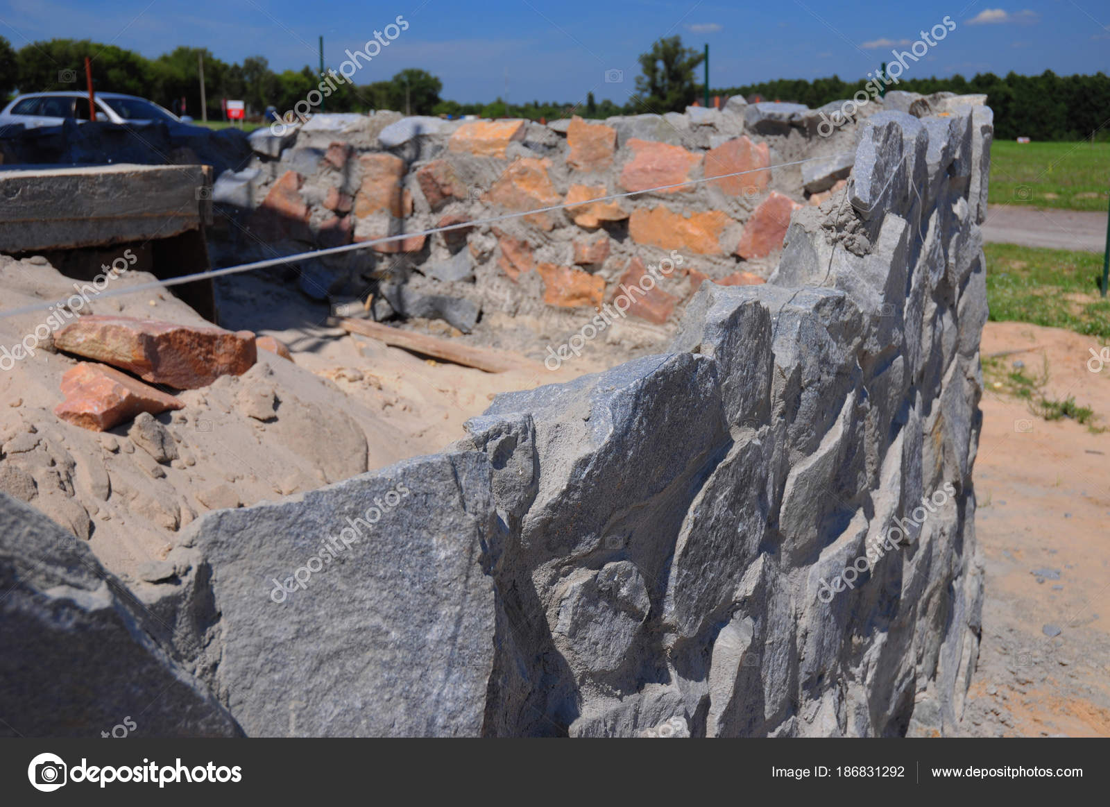 Building House Foundation From Wild Stone Stock Photo C Thefutureis 186831292