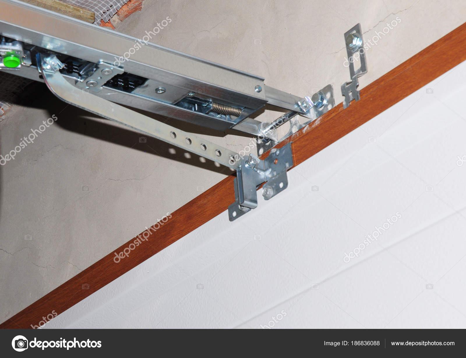 Garage Door Opener System Installing Garage Door Opener Stock