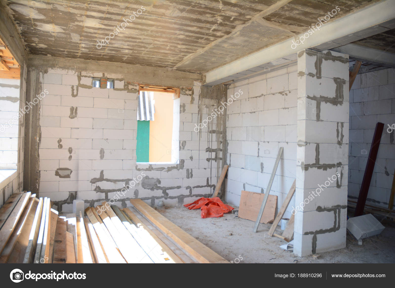 Estructura metálica para construcción de interior de protección ...