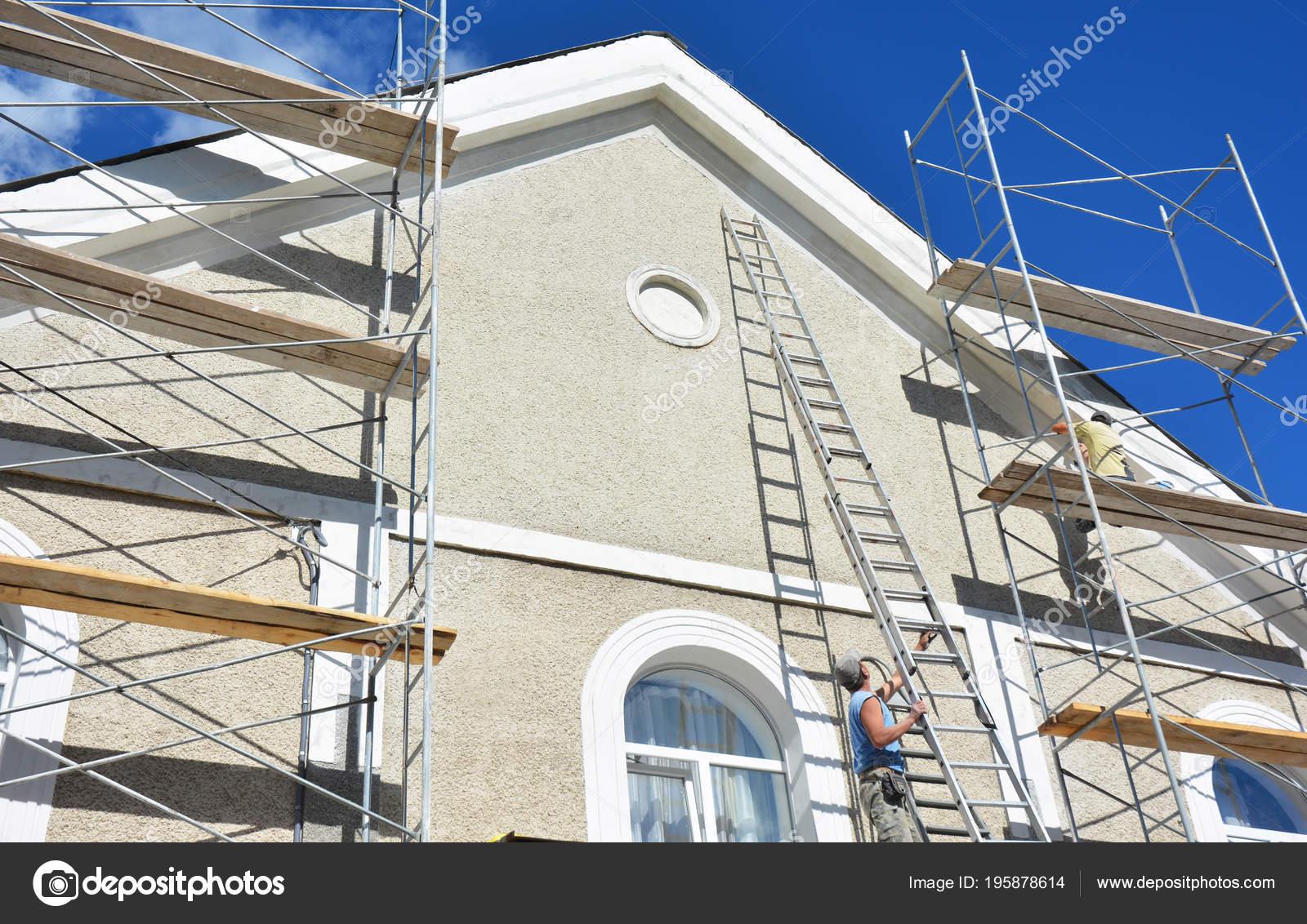 Peinture Plâtrerie Mur échafaudage Extérieur Maison
