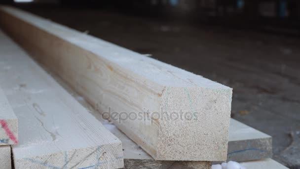 Dřevěný bar na prkna zásobníku na pile úložiště