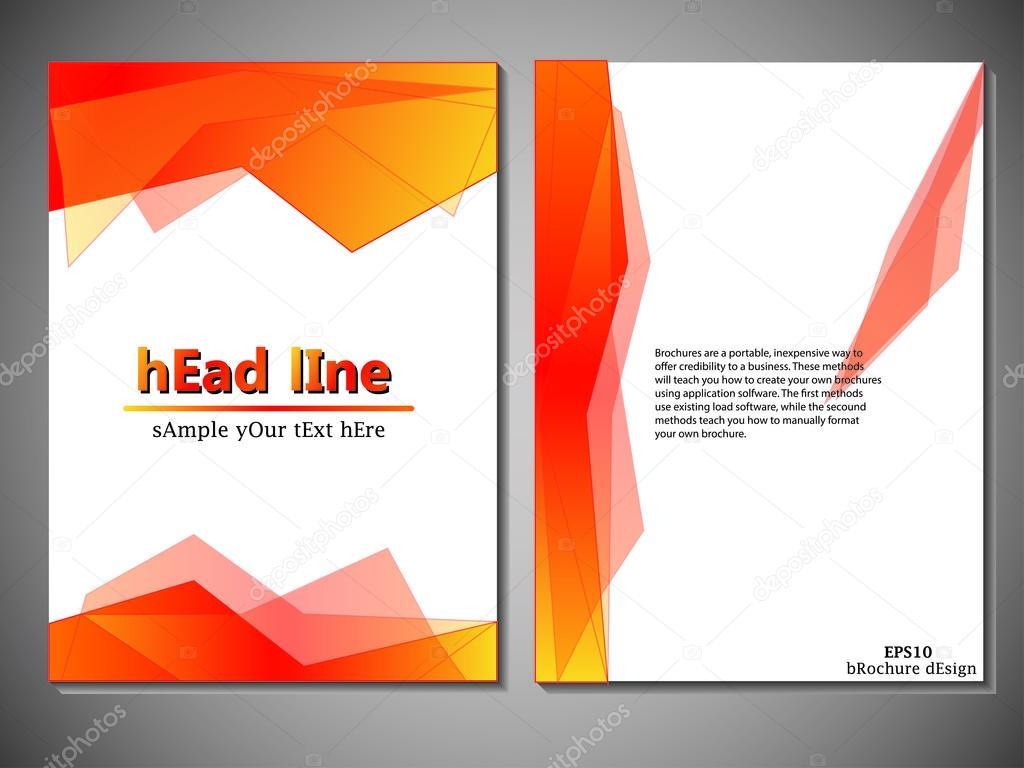Vorlage der Buchumschlag für Broschüre, Flyer, Geschäftsbericht ...