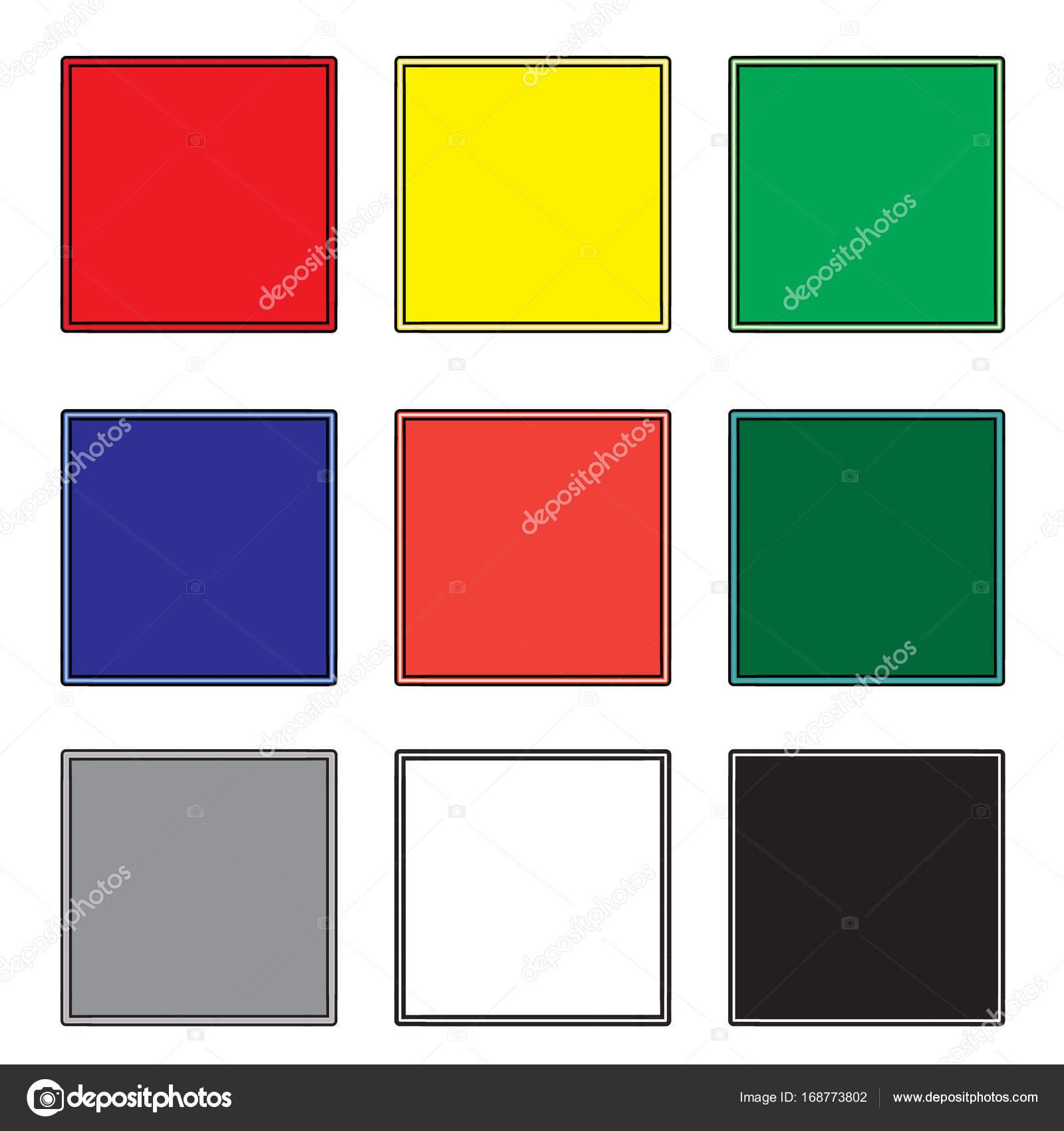 Conjunto de cuadrados vacío garabato marco, elementos de diseño ...